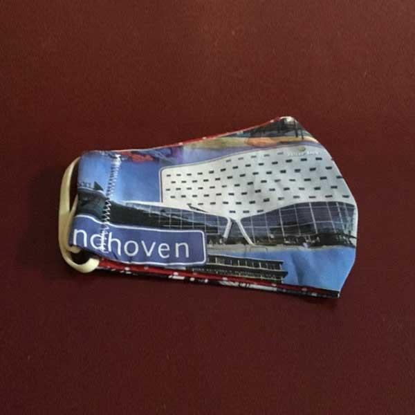 Mondkapje met afbeeldingen van Eindhoven