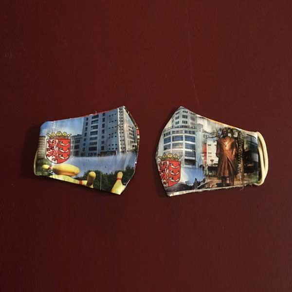Mondkapje met wapen en afbeeldingen van Eindhoven