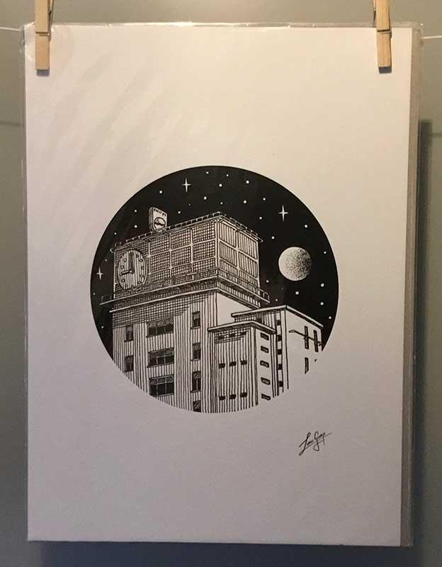 Laurens van Gurp - Klokgebouw - fine art print 20 x 30 cm