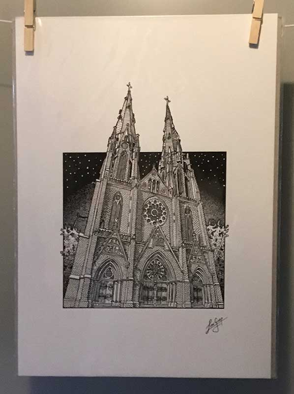 Laurens van Gurp - Catharinakerk - fine art print 20 x 30 cm