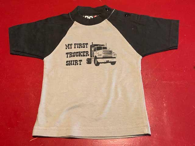 Baby t-shirt My first trucker shirt