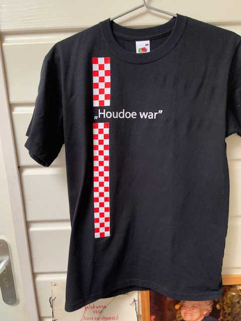 Heren t-shirt Houdoe war