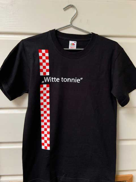 Heren t-shirt Witte tonnie