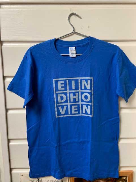 Heren t-shirt - EINDHOVEN royal blue met grijze opdruk