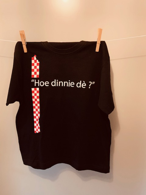 Kinder t-shirt Hoe dinnie dè