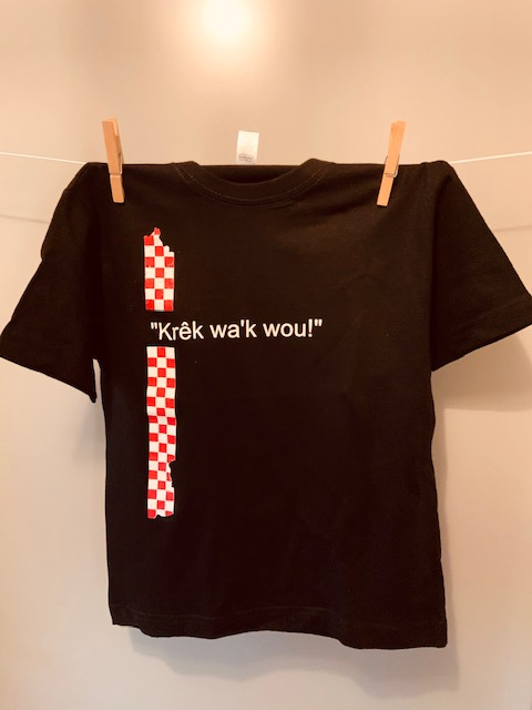 Kinder t-shirt Krêk wa'k wou!