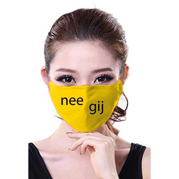 Mondkapje nee gij geel
