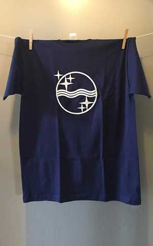 Philips waves T-shirt Navy blue